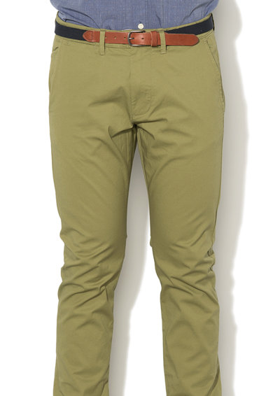 Selected Homme Pantaloni chino slim fit cu o curea etasabila Yard Barbati