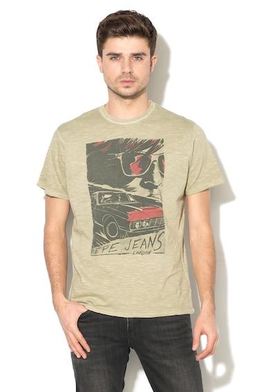 Pepe Jeans London Tricou cu imprimeu abstract Agger Barbati