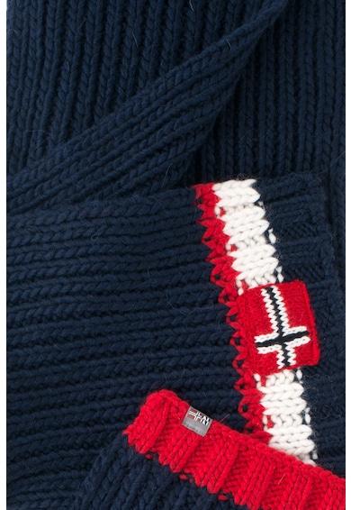 Napapijri Fular tricotat cu garnituri contrastante Fete