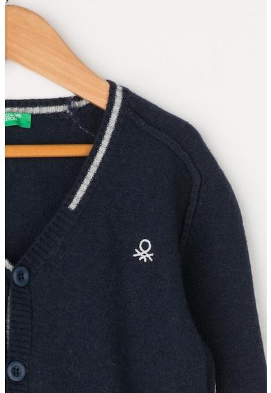 United Colors of Benetton Cardigan din amestec de lana cu garnituri contrastante Baieti