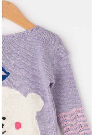 United Colors of Benetton Pulover din amestec de lana cu terminatii valurite Fete