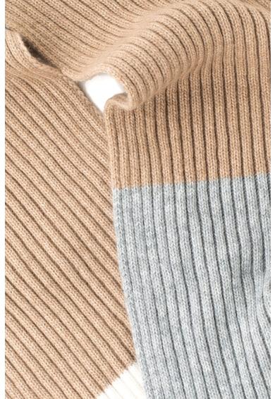 Stefanel Fular din amestec de lana cu model colorblock Femei