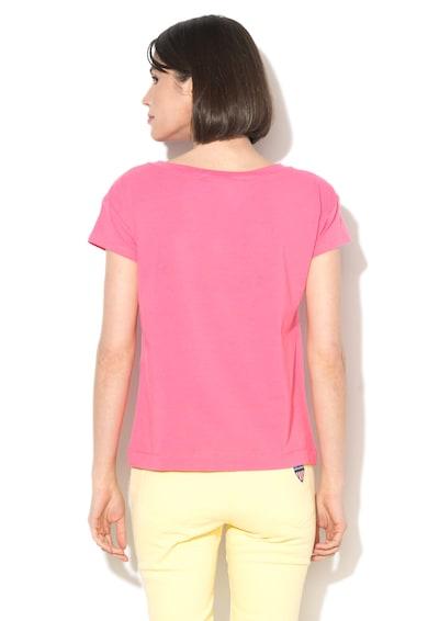 Love Moschino Tricou cu decolteu rotund si paiete Femei