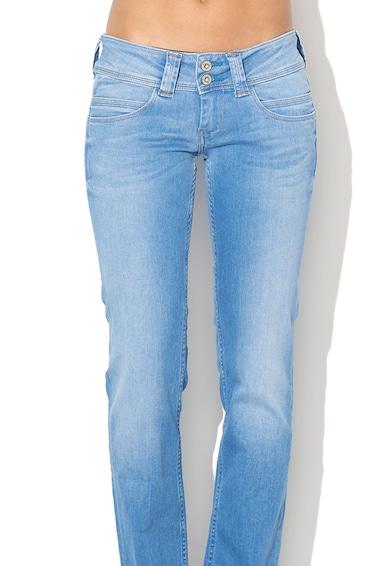 Pepe Jeans London Blugi regular fit cu talie joasa si croiala dreapta Ven Femei