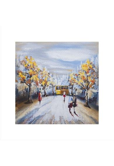 Mendola Art Tablou pictat manual Bus station 60x60 cm Femei