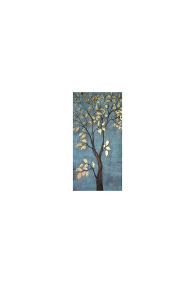 Mendola Art Tablou pictat manual Gold leaves,  60x120 cm Femei