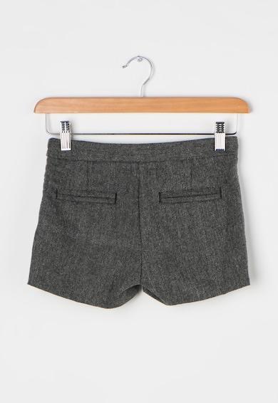 Esprit Pantaloni scurti gri cu model herringbone si buzunare pe spate Baieti