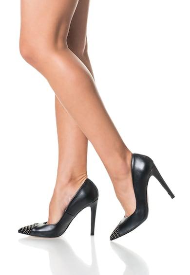 Roberto Botella Pantofi negri din piele cu varf decorat cu tinte Femei