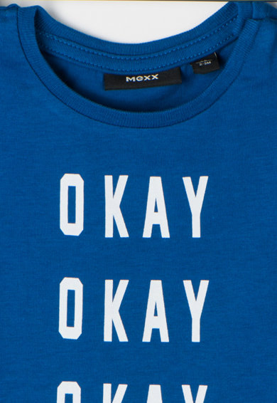 Mexx Bluza albastru royal cu imprimeu text Baieti