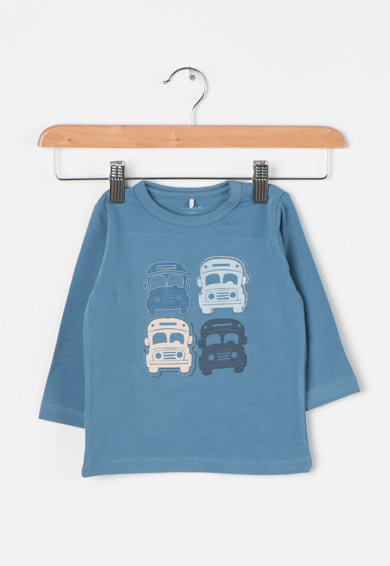 NAME IT Bluza albastru pastel cu imprimeu Kaare Baieti