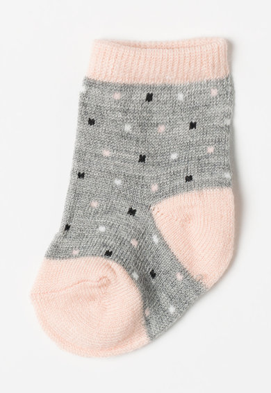 NAME IT Set de sosete roz cu gri din amestec de lana - 3 perechi Fete