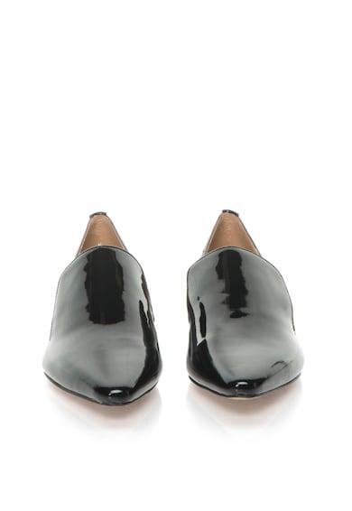 Calvin Klein Pantofi negri de piele lacuita cu varf ascutit Elin Femei