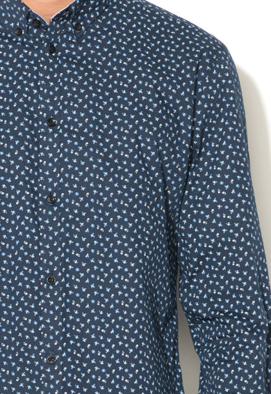 Esprit Тъмносиня вталена риза на шарки Мъже