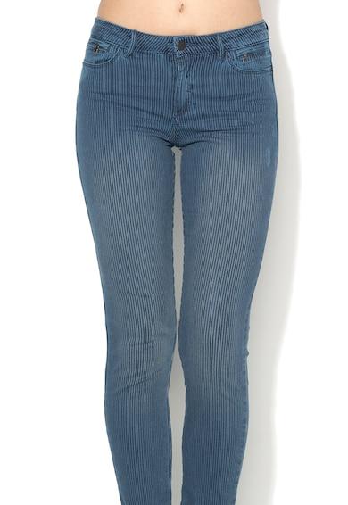 Esprit Jeansi skinny albastri cu model in dungi Femei