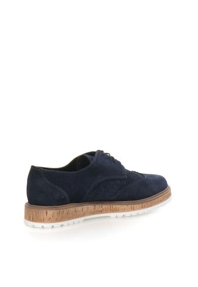 Esprit Pantofi derby bleumarin de piele nabuc Crissy Femei