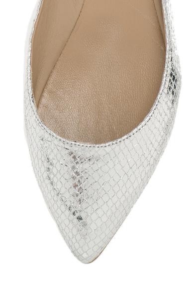 Oakoui Balerini argintii cu model reptila Femei