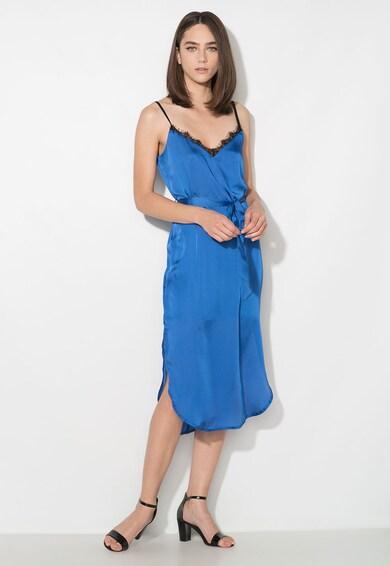 Zee Lane Collection Rochie albastra tip furou din satin cu insertie din dantela Femei
