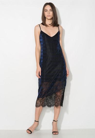 Zee Lane Collection Rochie tip furou neagra cu insertii din fire albastre Femei