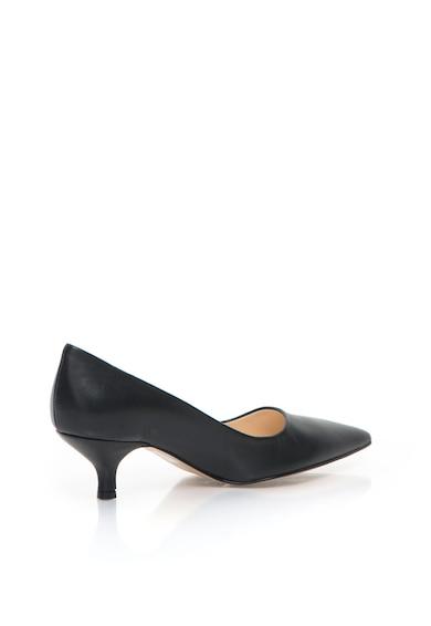 Zee Lane Pantofi negri de piele cu toc kitten Femei