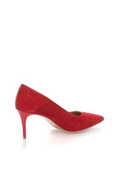 Zee Lane Pantofi rosii de piele intoarsa si cu varf ascutit Sofy Femei