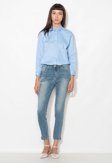 Zee Lane Denim Jeansi albastri cu imprimeu text Femei
