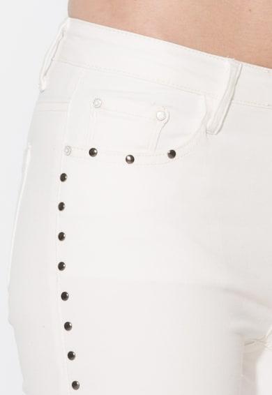 Zee Lane Denim Jeansi albi cu detalii metalice Femei