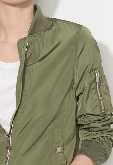 Zee Lane Denim Jacheta bomber verde militar Femei