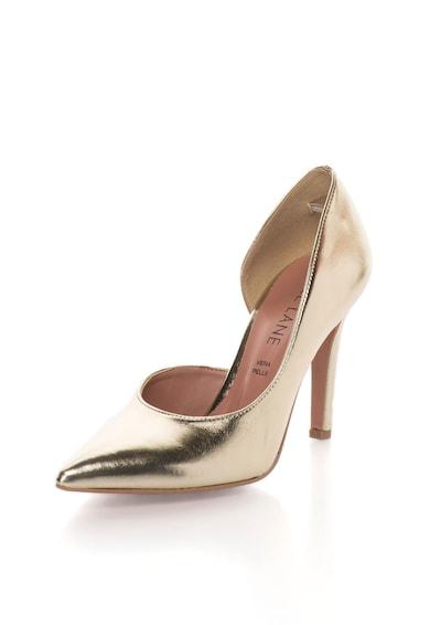 Zee Lane Pantofi d`Orsay aurii de piele Anne Femei