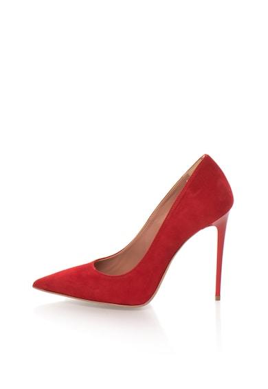 Zee Lane Pantofi stiletto rosii de piele intoarsa Denise Femei
