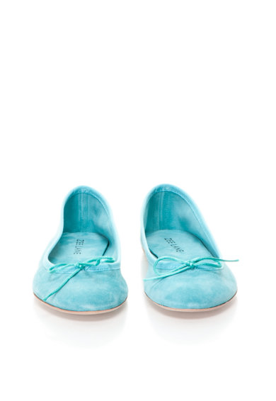 Zee Lane Balerini albastru aquamarin din piele intoarsa Femei