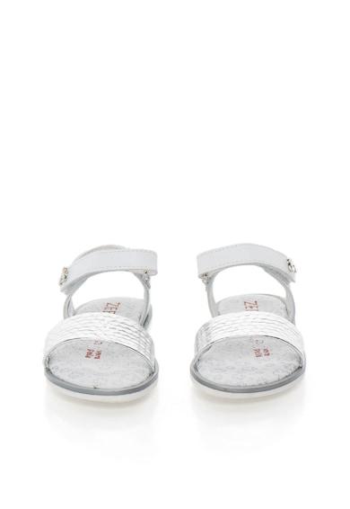 Zee Lane Sandale alb cu argintiu de piele Fete