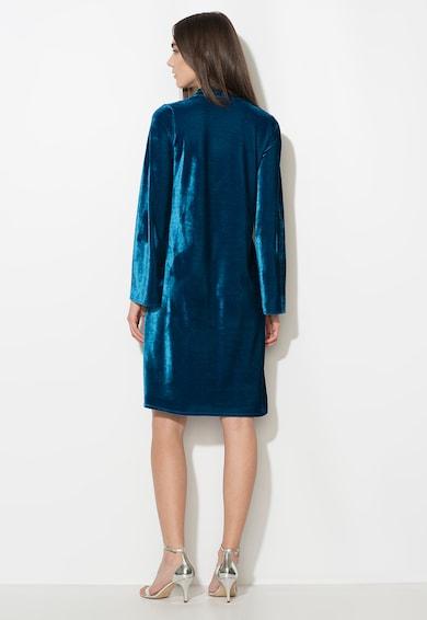 Zee Lane Collection Rochie albastru paun catifelata cu maneci evazate Femei