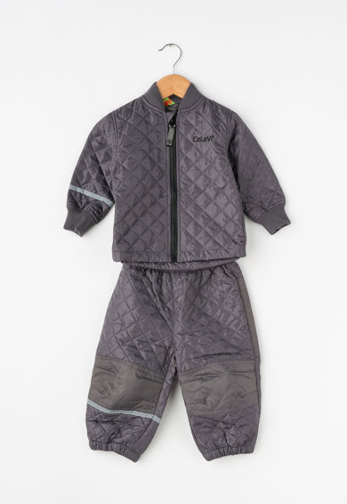 CeLaVi Set gri de jacheta si pantaloni matlasati Fete
