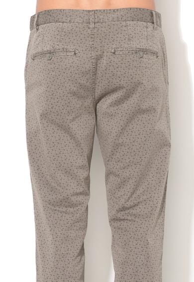 United Colors of Benetton Pantaloni chino gri slim fit cu model paisley Barbati