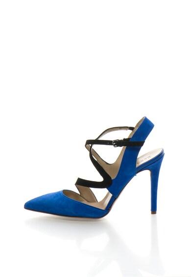 Zee Lane Pantofi slingback albastru royal cu negru de piele intoarsa Femei