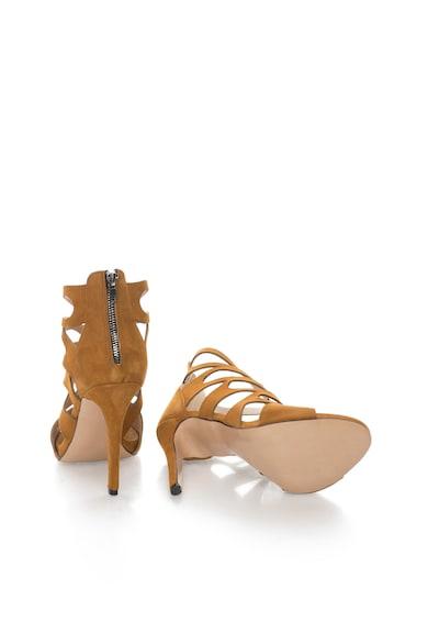 Zee Lane Sandale maro camel de piele intoarsa Gaia Femei