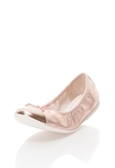 Clarks Balerini roz metalizat din piele Dance Puff Fete