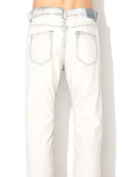 Diesel Jeansi conici slim albastri cu aspect tratat Rhial Barbati
