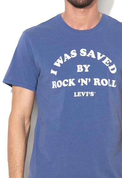 Levi's Tricou albastru lavanda cu text Barbati