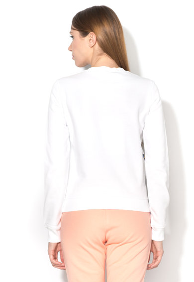 Love Moschino Bluza sport alba cu imprimeu Femei