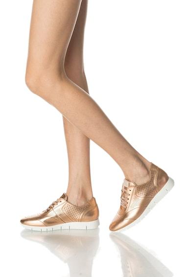 Bullboxer Pantofi sport auriu rose de piele cu detalii perforate Femei