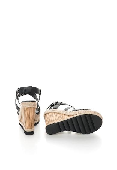 Bullboxer Sandale wedge negre tip espadrile Femei