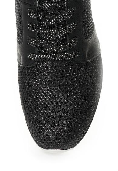 Bullboxer Pantofi sport negri cu aspect stralucitor Femei
