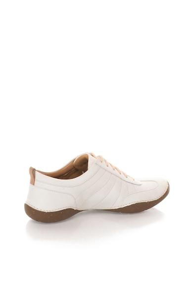 Clarks Pantofi alb prafuit de piele nabuc Autumn Garden Femei