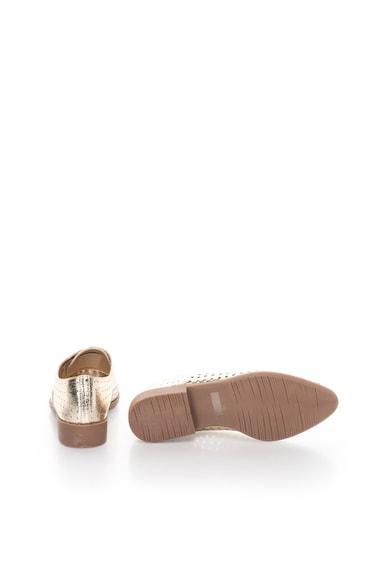 Francesco Milano Pantofi slip-on aurii cu model perforat Femei