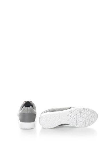 Le Coq Sportif Pantofi sport gri melange cu aspect stralucitor Dynacomf Femei