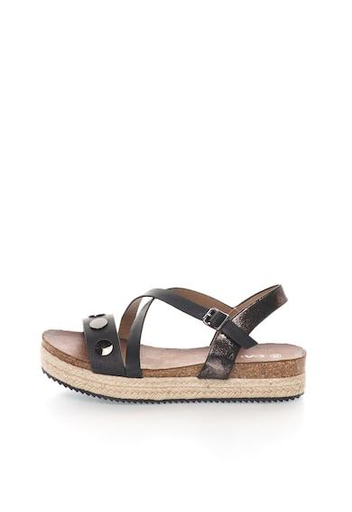 Oakoui Sandale flatform negre Bacardi Femei