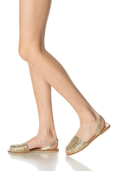 Oakoui Sandale aurii cu particule stralucitoare Minorchina Femei