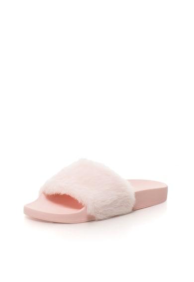 Steve Madden Papuci roz cu bareta de blana sintetica Softey Femei
