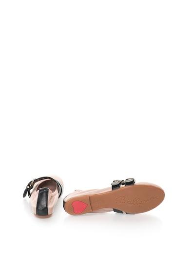 Zee Lane Balerini roz prafuit de piele cu garnituri negre Milva Femei